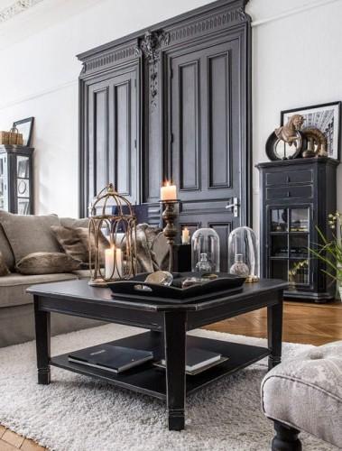 Stolik Kawowy Czarny Bruges Interiors