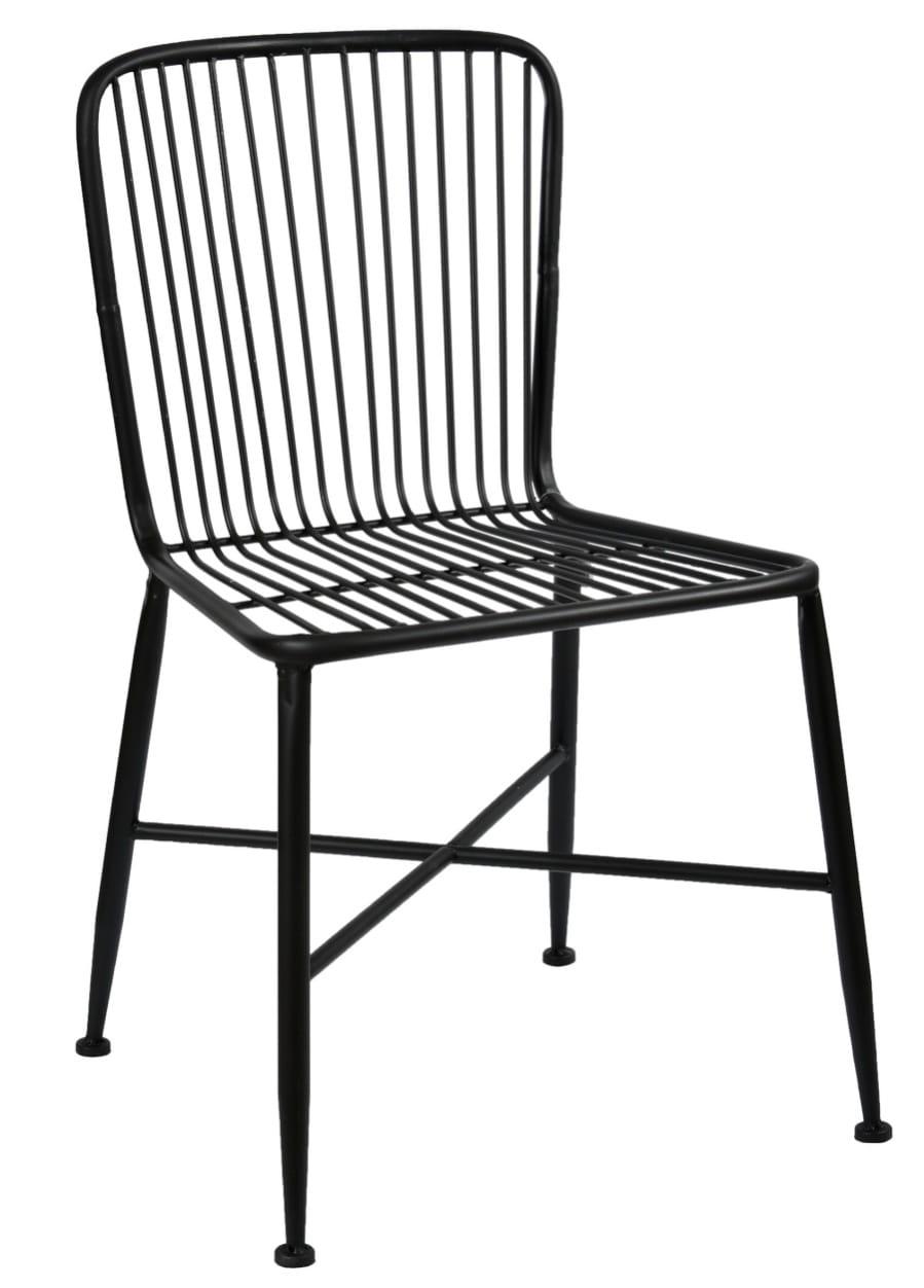 Krzesło Metalowe Czarne Belldeco Loft